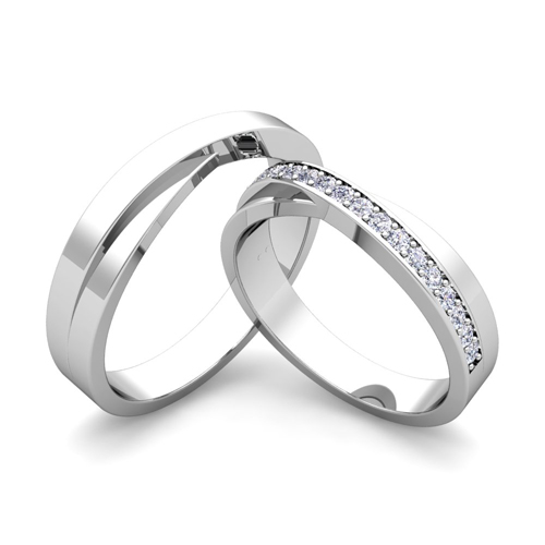 ... Infinity Wedding Bands for Him and Her with Diamonds and Gemstones