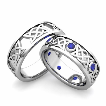 Build Legacy Celtic Wedding Ring for Him and Her with Diamonds and ...