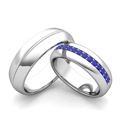 Wedding Bands For Him And Her: Custom Comfort Fit Wedding Band For Him And Her With