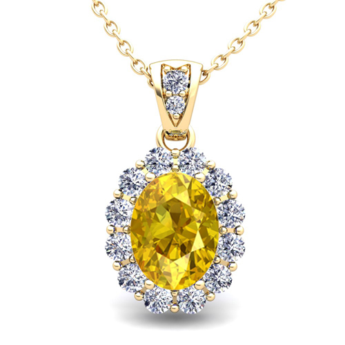 yellow sapphire necklace - photo #5