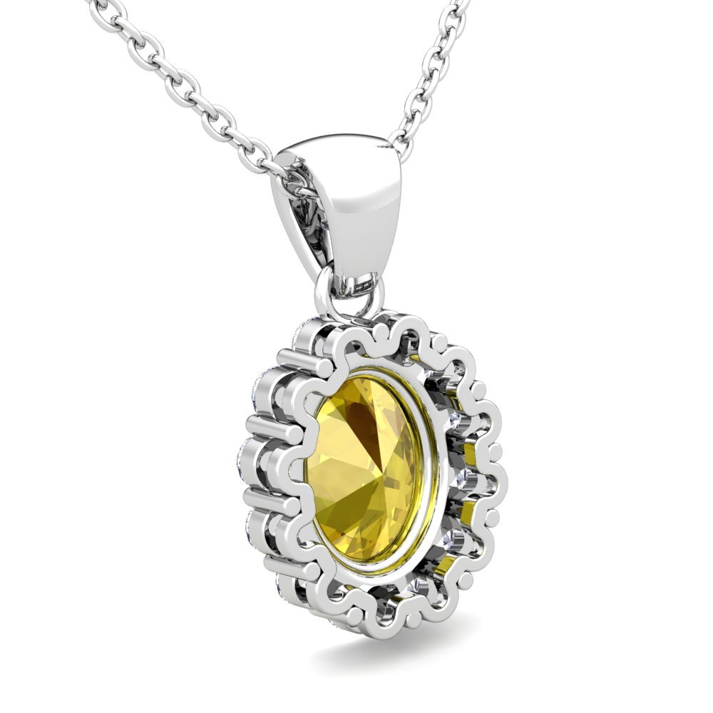 yellow sapphire necklace - photo #10