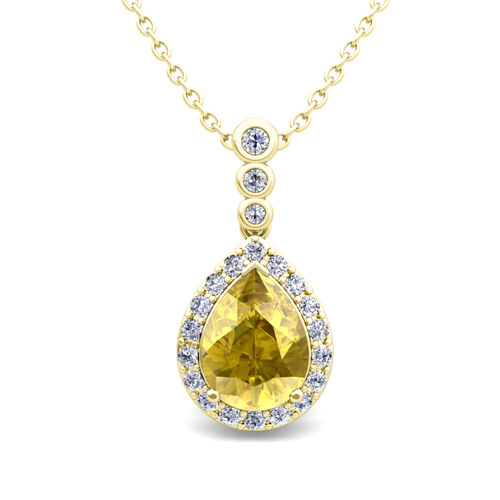 yellow sapphire necklace - photo #30