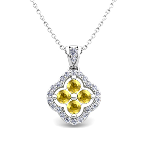 yellow sapphire necklace - photo #17