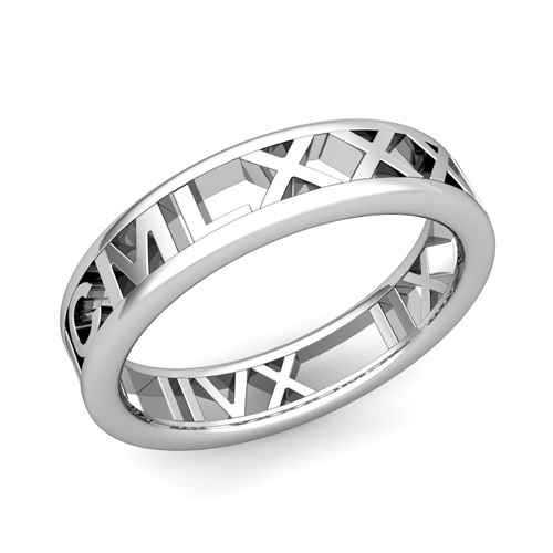 Roman Numeral Wedding Ring Legacy Roman Numeral Wedding