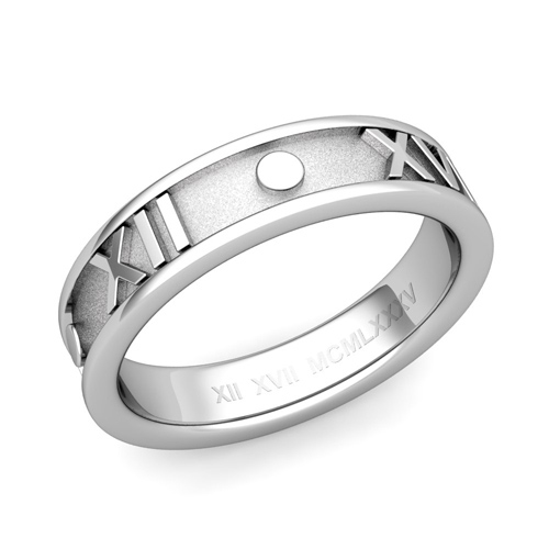 Roman Numeral Wedding Ring Roman Numeral Wedding Ring