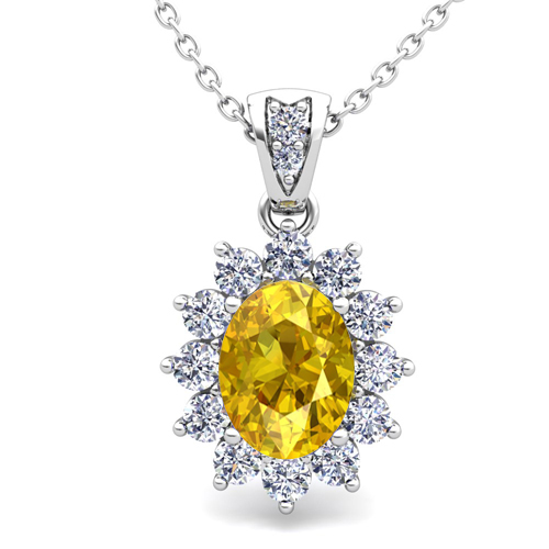 yellow sapphire necklace - photo #8