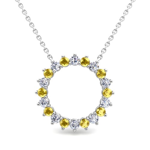 yellow sapphire necklace - photo #49