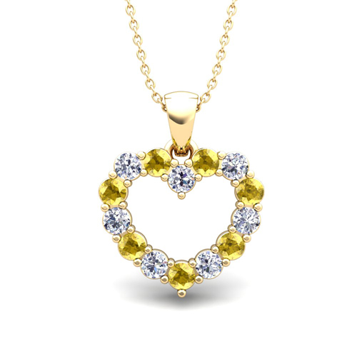 yellow sapphire necklace - photo #11