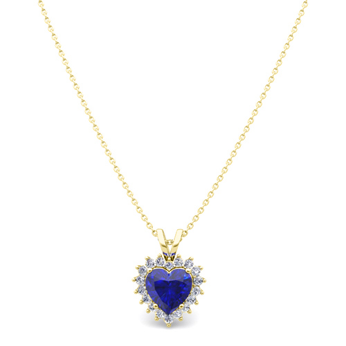 Heart sapphire and diamond necklace in 14k gold pendant order now ships on friday 316order now ships in 5 business days heart sapphire and diamond necklace aloadofball Image collections