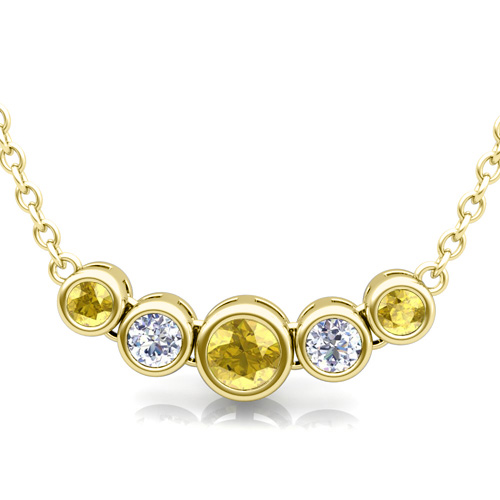 yellow sapphire necklace - photo #48