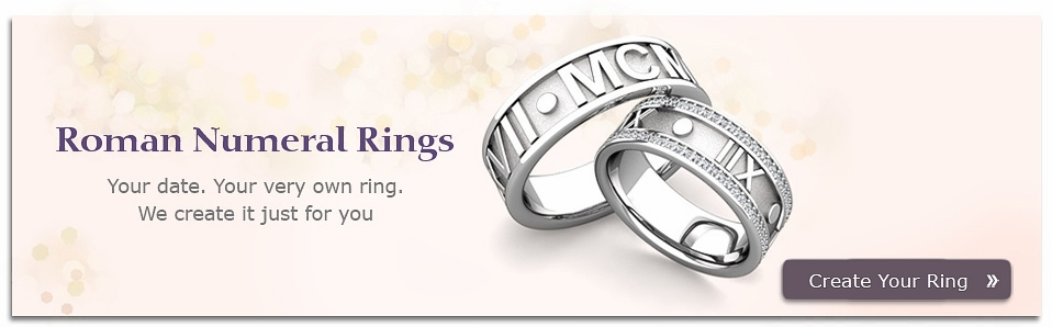 Create Roman Numeral Wedding Bands