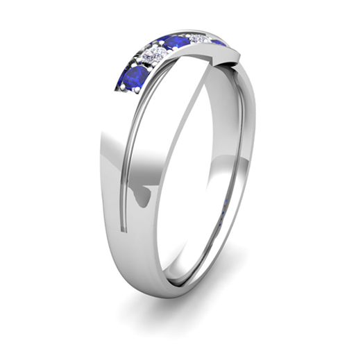 Order Now Ships On Thursday 1 4Order In 6 Business Days Infinity Sapphire And Diamond Wedding Ring Platinum Mens Band