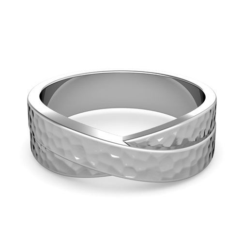Order Now Ships On Friday 3 16order In 5 Business Days Infinity Wedding Band Platinum Hammered Comfort Fit Ring 7mm