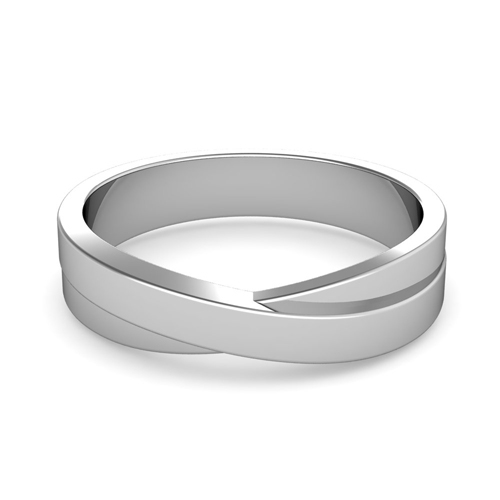 order now ships on wednesday 621order now ships in 5 business days infinity wedding band in platinum polished finish comfort fit ring - Infinity Wedding Rings