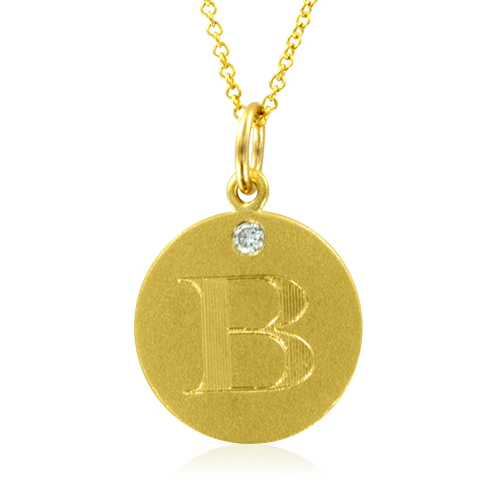 Initial necklace letter b diamond pendant with 18k yellow gold chain order now ships on thursday 322order now ships in 4 business days initial necklace letter b diamond pendant mozeypictures Choice Image