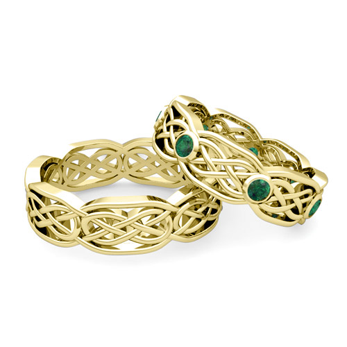 order now ships on monday 612order now ships in 5 business days - Emerald Wedding Ring