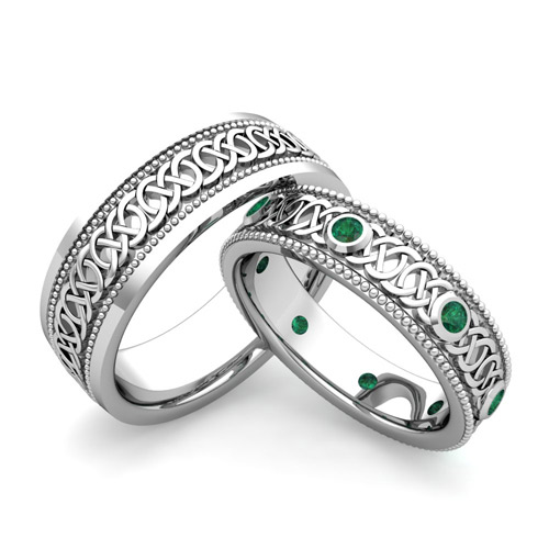 ... -celtc-knot-wedding-band-in-18k-gold-emerald-wedding-ring-190.jpg