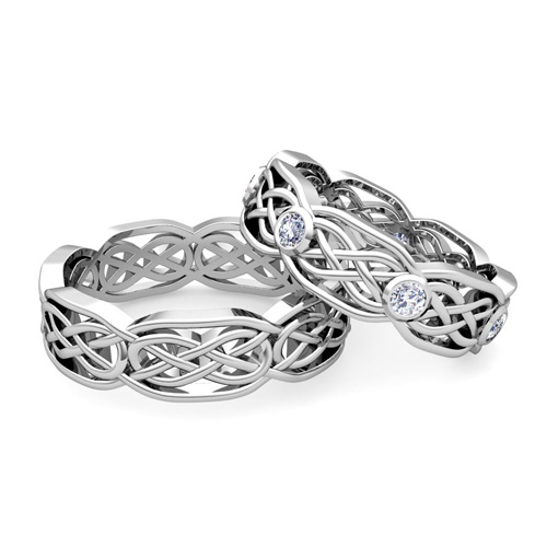 celtic engagement and wedding ring