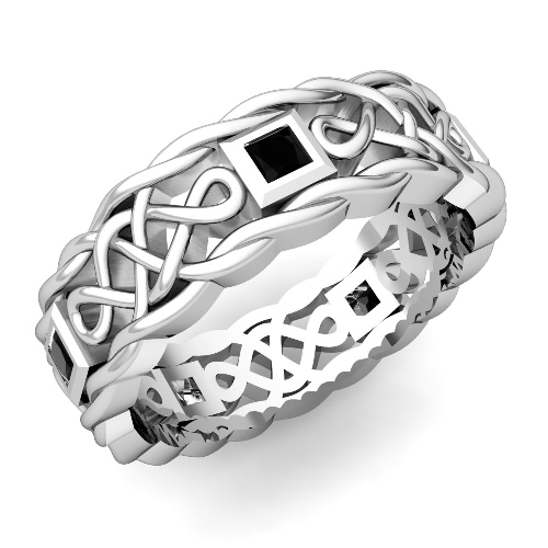matching-celtic-knot-wedding-band-in-platinum-black-diamond-wedding ...
