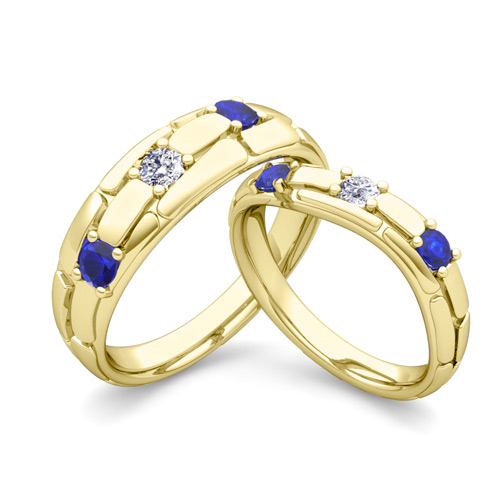Gold Wedding Rings Gold Wedding Bands His And Hers