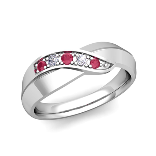 matching-wedding-band-in-14k-gold-infinity-diamond-and-ruby-wedding ...