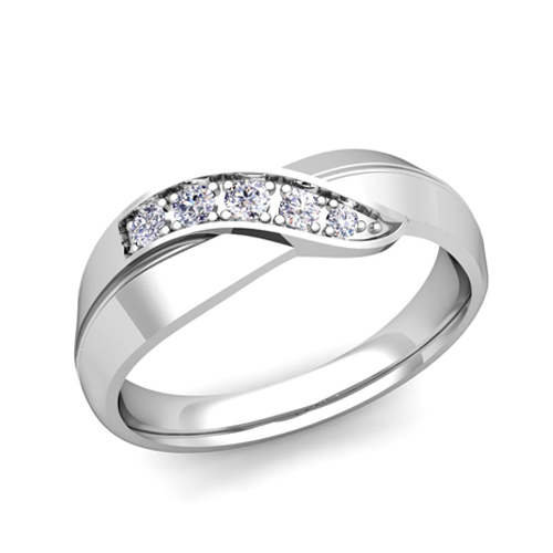 order now ships on monday 626order now ships in 5 business days matching wedding band in 14k gold infinity diamond wedding rings - Infinity Wedding Ring Set