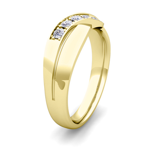 his and matching wedding bands 14k gold infinity