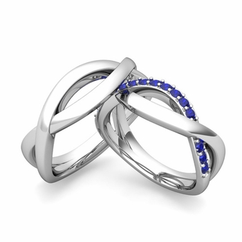 matching wedding band in platinum sapphire infinity wedding rings - Wedding Ring Bands For Her