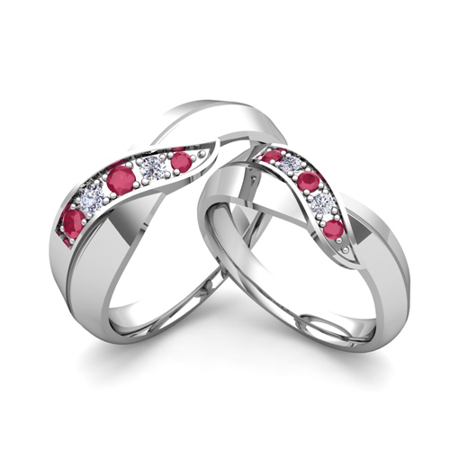 matching-wedding-band-in-18k-gold-infinity-diamond-and-ruby-wedding ...