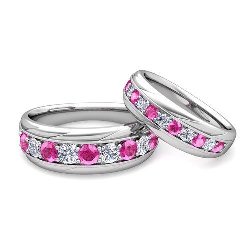 wedding ring set order now ships on tuesday 620order now ships in 6 business days - Pink Wedding Ring Set