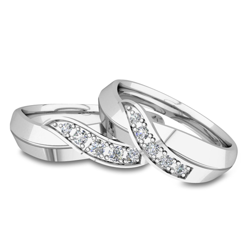 his and matching wedding bands platinum infinity