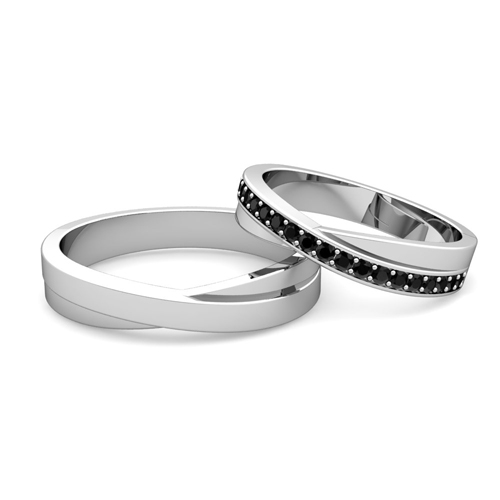 matching-wedding-bands-infinity-black-diamond-wedding-ring-set-in ...