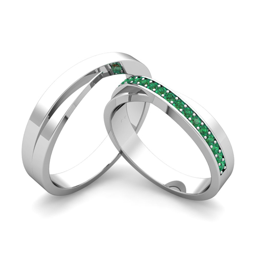 matching-wedding-bands-infinity-emerald-wedding-ring-set-in-18k-gold-2 ...