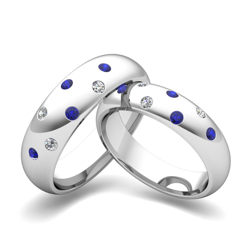 Scattered Wedding Ring Set