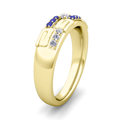 his and hers wedding ring 14k gold unique sapphire wedding