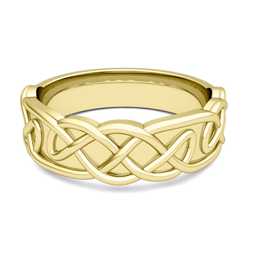 Mens Celtic Knot Ring His Comfort Fit Wedding Band
