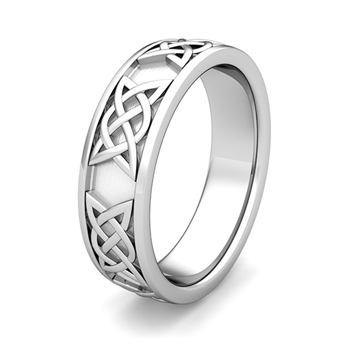 legacy celtic knot wedding band in 14k gold comfort fit ring 65mm - Celtic Mens Wedding Rings