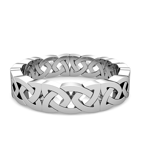 celtic knot wedding ring in platinum comfort fit eternity band 5mm - Celtic Knot Wedding Rings