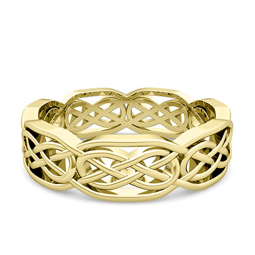 celtic knot wedding band in 18k gold comfort fit wedding ring
