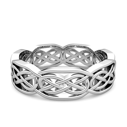 Custom Celtic Wedding Band For Men And Women In Gold And