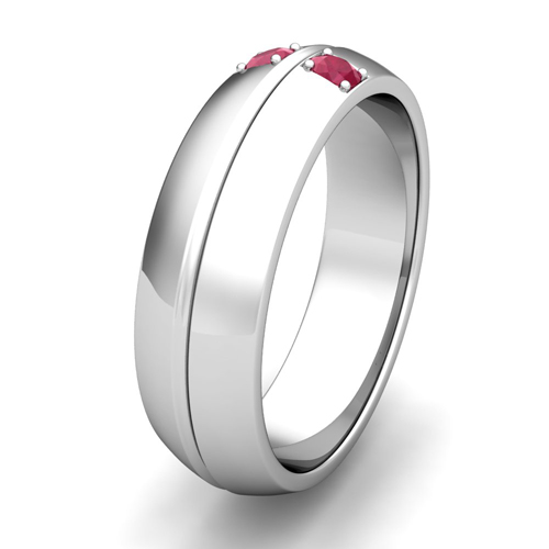 Order Now Ships On Tuesday 1 23Order In 5 Business Days Mens Comfort Fit Ruby Wedding Band