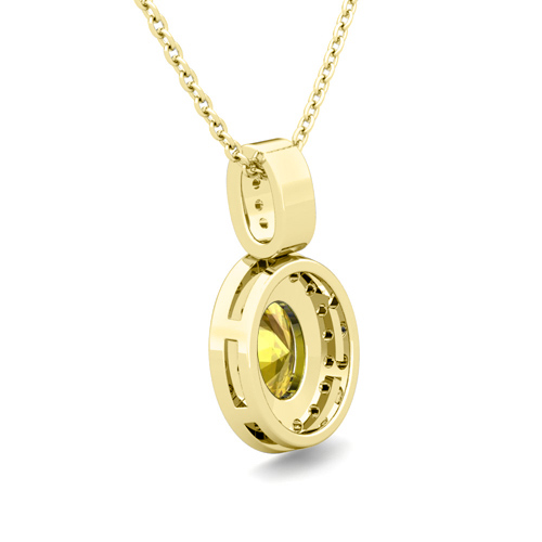 yellow sapphire necklace - photo #39