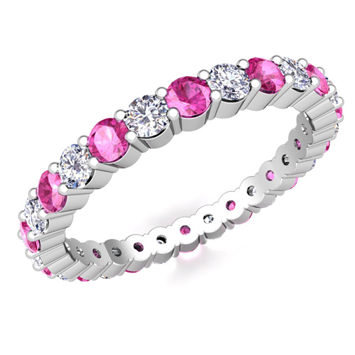 Pave Pink Sapphire Eternity Band In 18k Gold My Love