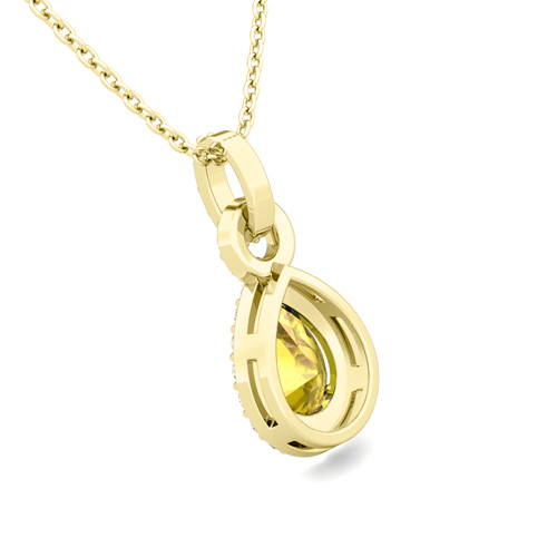 yellow sapphire necklace - photo #25