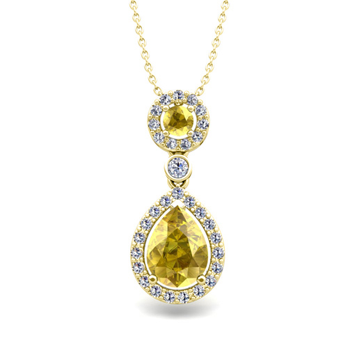 yellow sapphire necklace - photo #34