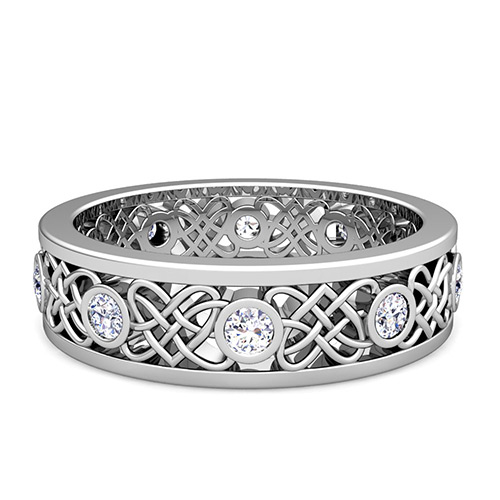 celtic heart knot wedding band - Celtic Knot Wedding Rings
