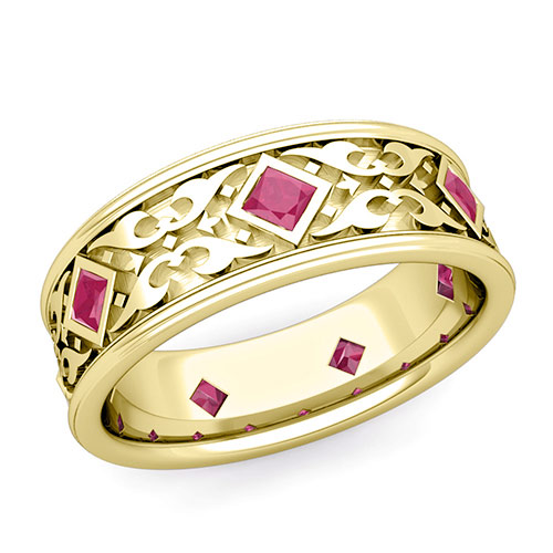 Celtic Knot Ruby Ring