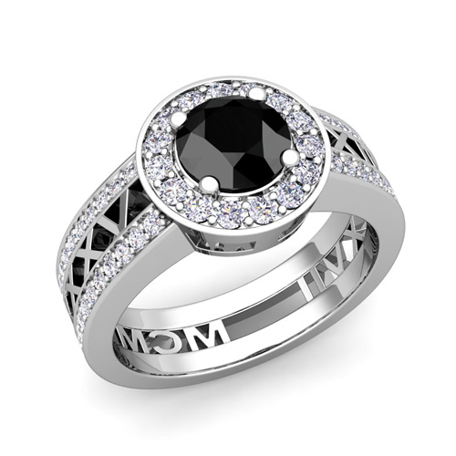 Roman Numeral Wedding Ring Roman Numeral Engagement Ring