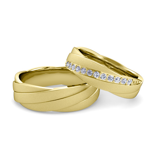 matching wedding bands rolling wedding ring in 14k