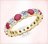 Ruby Wedding Bands